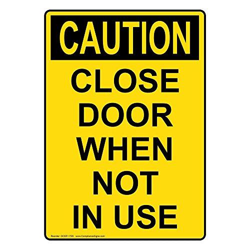 Yellow Notice On Front Door: Compare Price: Close Door Sign