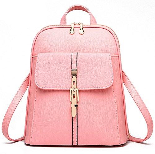 Flada - Bolso mochila  para mujer azul azul mediano rosa