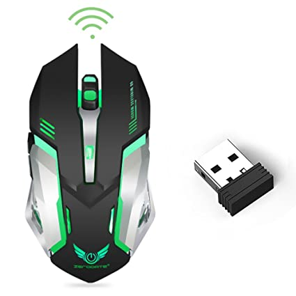 Amazon.com: Wireless Optical Gaming Mouse with USB Receiver ...
