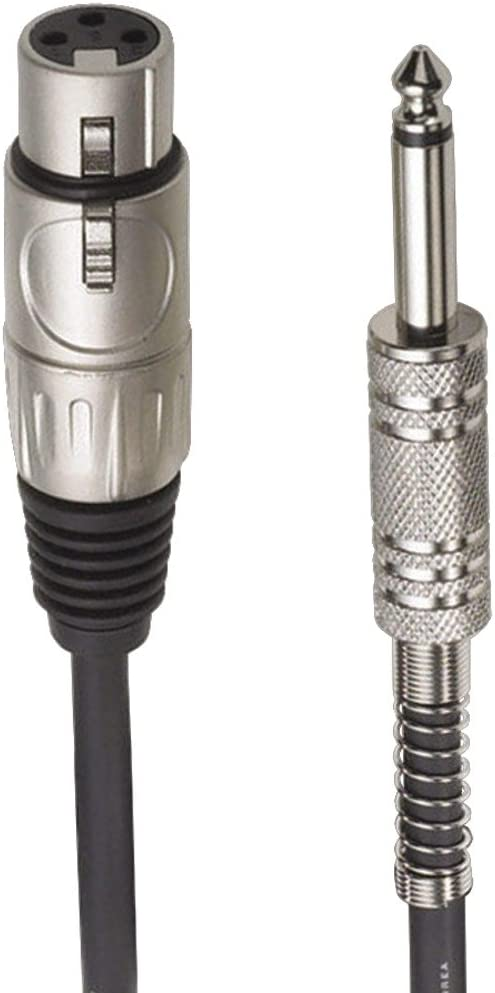"""Audio-Technica AT8311 Hi-Z High Impedence XLR Female to 1/4"""" Male Value Microphone Cable, 25 Feet"""