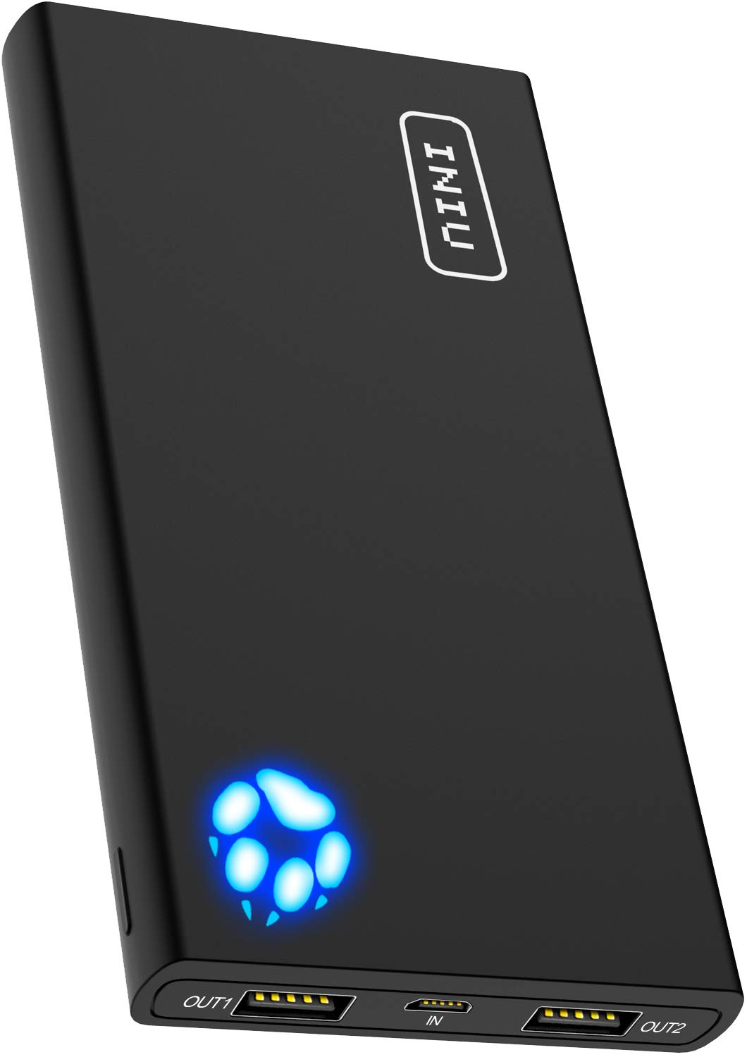 INIU Portable Charger, 10000mAh Power Bank, 4.8A High-Speed 2 USB Ports with Flashlight Battery Pack, Ultra Compact Phone Charger Compatible with Iphone XS X 8 7 6 Samsung Galaxy S9 Note 9 iPad Tablet by INIU