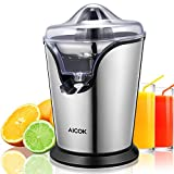 quiet citrus juicer - Aicok Citrus Juicer Electric Brushed Stainless Citrus Juicer Squeezer Powerful 100W Ultra Quiet Motor For Fresh Orange Juice, Easily Squeezed And Drip-stop Juice Spout