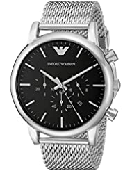 Emporio Armani Mens AR1808 Dress Silver Watch