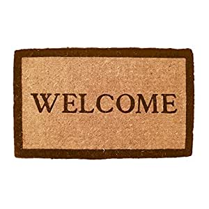 "Simply...Welcome Hand Made Extra Thick Coconut Fiber Doormat 18"" x 30"""