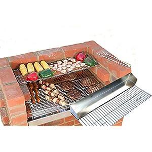 ladrillo barbacoa kit 100% (comida tipo) acero inoxidable