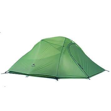 Naturehike Cloud-up ultraligero 3 persona tienda de campaña impermeable doble capa Camping tienda de campaña (210T Verde): Amazon.es: Deportes y aire libre