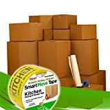 UBOXES, LLC Smart Moving Boxes Kit & Packing Supplies with Tape