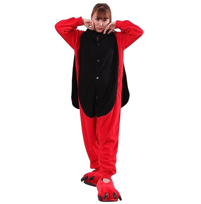 MissFox Pijamas Kigurumi Disfraces Cosplay de Animales para Adultos Unisexo Pijama Traje Entero Hombre Mujer Kigurumis