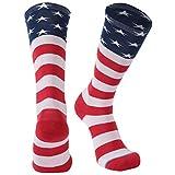 Adult Novelty Socks, Gmark Women's USA Flag Socks-Independence Day-Stars&Stripes Design-Celebrate America 1-Pair