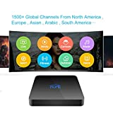 Arabic IPTV Box Receiver 2019 Newest with 1500+ Global Channels Covers Asian American