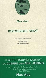 Impossible Sinaï par Max Aub