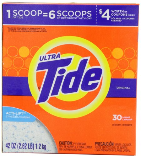 Tide Ultra Laundry Detergent Powder, Original Scent, 42 Ounce
