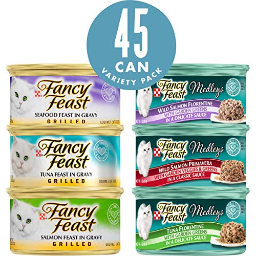Purina Fancy Feast Variety Pack Wet Cat Food – (45) 3 oz. Cans