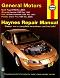 H38010 Haynes GM Buick Regal 88-04 Chevrolet Lumina 90-94 Oldsmoblile Cutlass Supreme 88-97 Pontiac Grand Prix 88-07 Auto Repair Manual