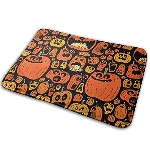 OLZI Halloween Decoration Doormat Indoor Home Kitchen Bathroom Outdoor Non-Slip (23.6