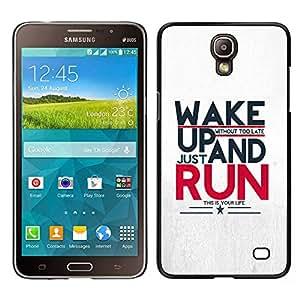 TopCaseStore / la caja del caucho duro de la cubierta de protección de la piel - Run Running Sports Motivational - Samsung Galaxy Mega 2