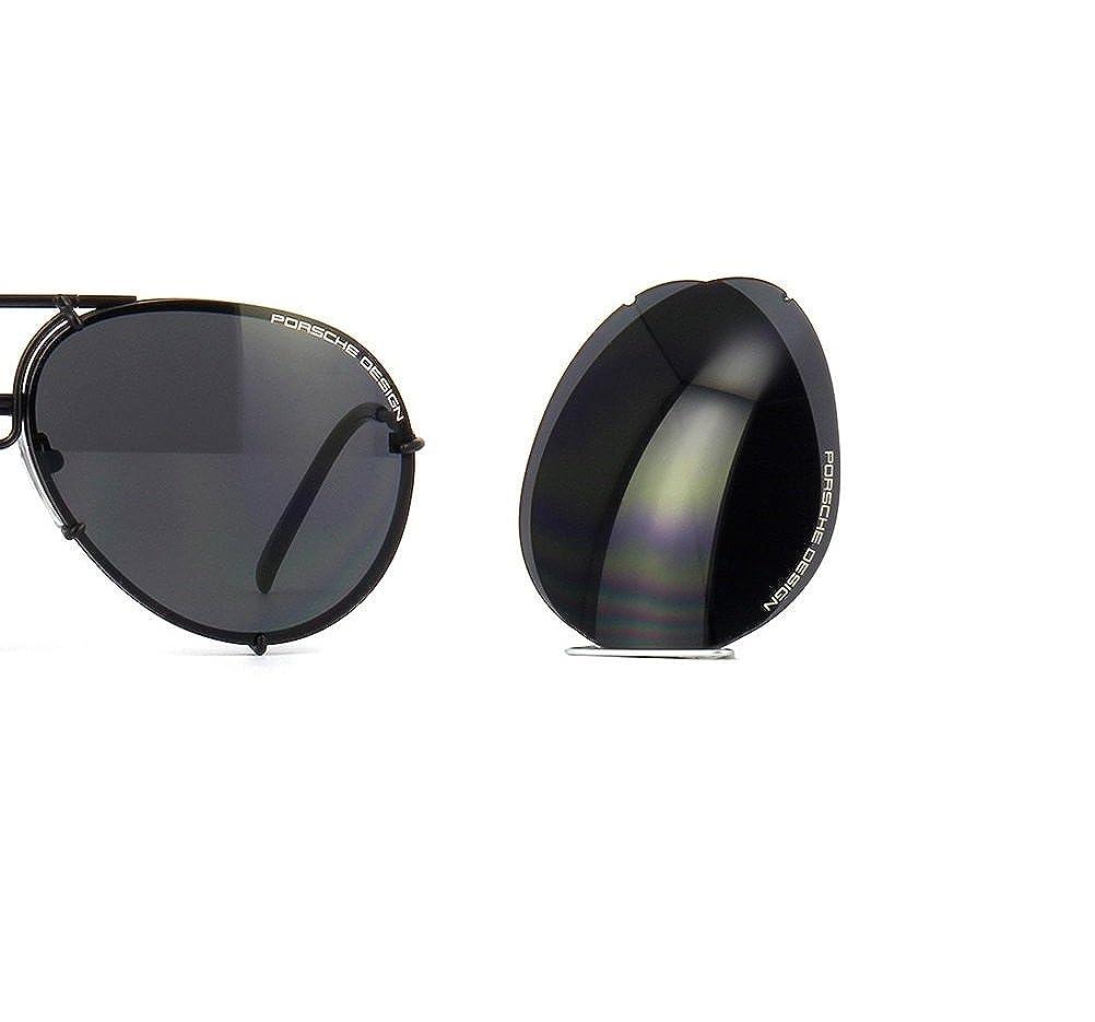 37297dbf13a Amazon.com  PORSCHE DESIGN P8478 D Aviator Sunglasses Black Matte Frame Size  69 + Extra Lens  Jewelry