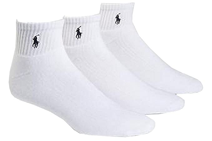 794c463009a66 Polo Ralph Lauren 3-Pack Classic Cotton Ankle Socks at Amazon Men s  Clothing store