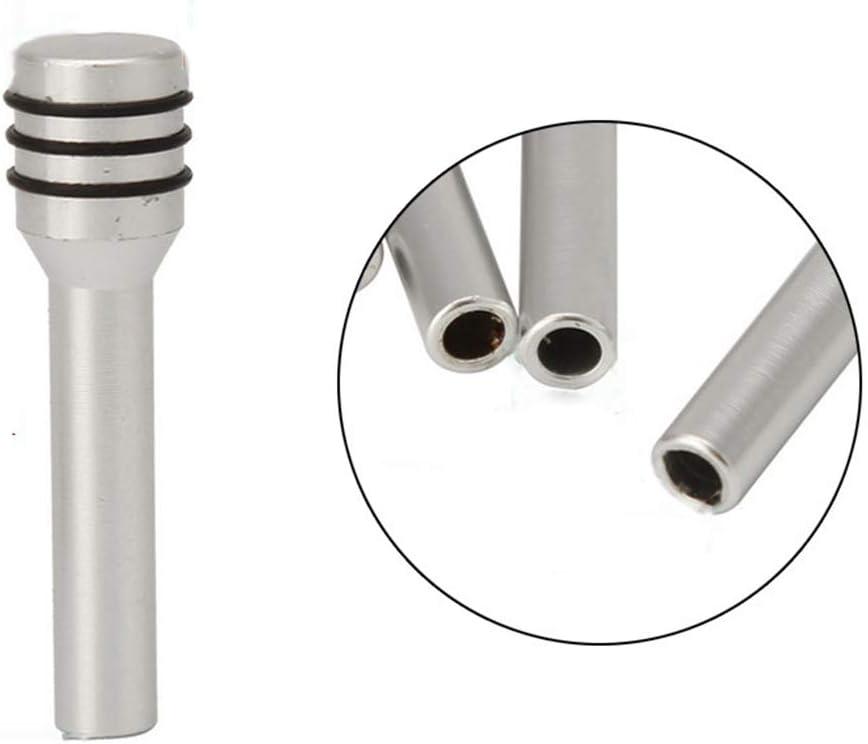 bjlongyi 2Pcs Lock Pin of Car Door,Vehicle Universal Interior Door Lock Pin Alloy Pull Pin Knobs Car Accessories Silver