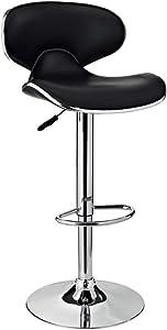 Powell Furniture Powell PU, Chrome/Black Barstool