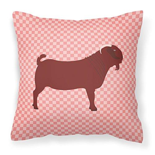 Caroline's Treasures BB7891PW1818 Kalahari Red Goat Pink Check Outdoor Canvas Fabric Decorative Pillow, Multicolor (Square Kalahari)