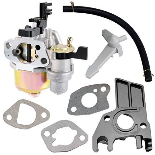 QAZAKY Carburetor for Honda GX 140 160 GX160 5.5hp GX200 6.5hp Engines Generator Pressure Washer Kart Lawn Mower Carb with Gasket Intake Manifold Hose Choke Lever