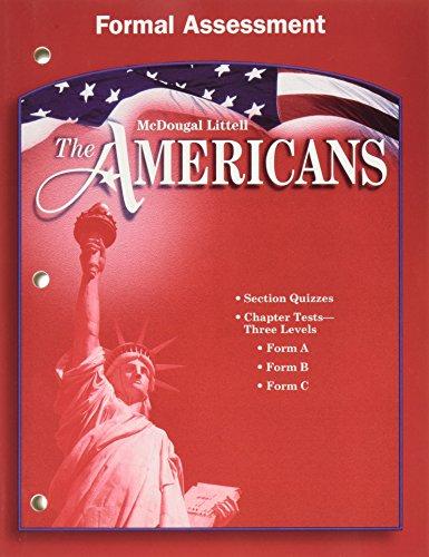 McDougal Littell The Americans: Formal Assessment Grades 9-12