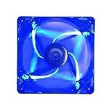 APEVIA AF512L-BL 4 Pin Plus 3 Pin Silent LED Case Fan, 120 mm, Blue, 5 Piece