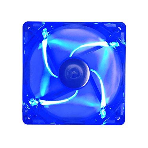 APEVIA AF512L-BL 4 Pin Plus 3 Pin Silent LED Case Fan, 120 mm, Blue, 5 Piece by Apevia (Image #4)