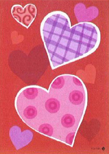 Toland - Heart Trio - Decorative Valentine Day Love Red Pink USA-Produced House Flag