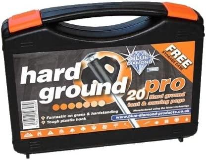 Blue Diamond Hard Ground Pro Pegs 20s With Free Case by Blue Diamond