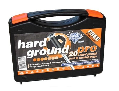 Blue Diamond Hard Ground Pro Pegs 20's With Free Case by Blue Diamond PEG221
