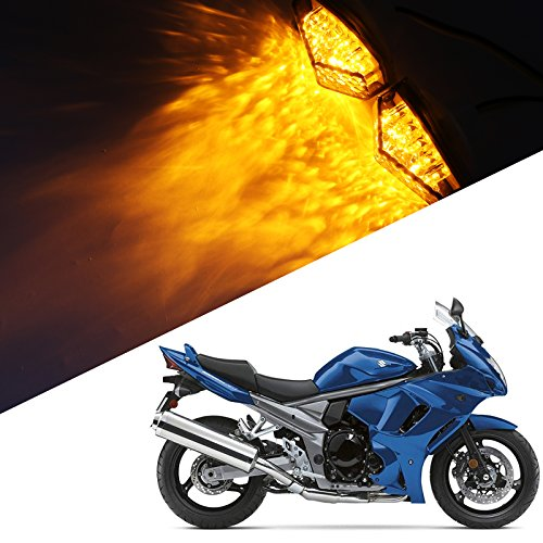 - Motorcycle Smoke LED Flush Mount Turn Signal Light Side Marker Lamp for Suzuki BANDIT GSX1250FA GSXR1000 1000Z GSXR600 600M 600X 600Z GSXR750 750X Hayabusa Katana 600 750 SFV650 SV1000 1000S SV650
