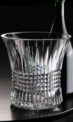 - Waterford Lismore Diamond Ice Bucket with Tongs