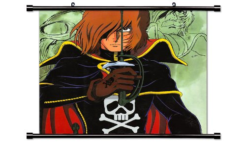 Captain Harlock Anime Fabric Wall Scroll Poster (32