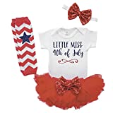 Girl First 4th of July Outfit Newborn Fourth of July Outfit Tutu Set