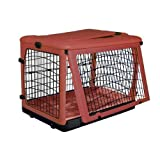Pet Gear The Other Door Steel Crate with Fleece Pad for Cats and Dogs Up to 90-Pound, Brick, My Pet Supplies
