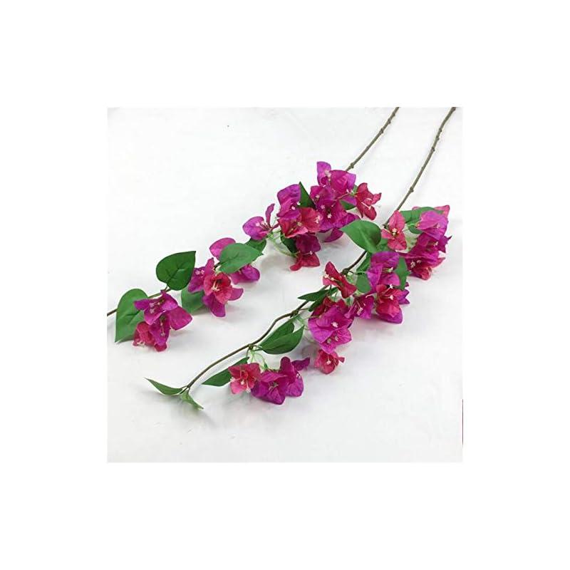 "silk flower arrangements 10pcs silk bougainvillea glabra climbing bougainvillea spectabilis artificial bougainvillea tree branches 31.5"" six colors for wedding centerpieces (deep pink & fuchsia)"