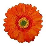 Gerbera Daisy Artificial Flower Hair Clip/Pin Brooch, Rust Orange