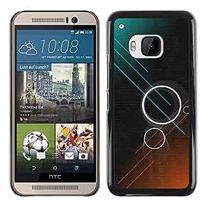 Be Good Phone Accessory // Dura Cáscara cubierta Protectora Caso Carcasa Funda de Protección para HTC One M9 // Rings Teal Brown Dark Sci-Fi