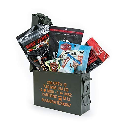 Man Crates Premium Jerky Ammo Can Gift Basket