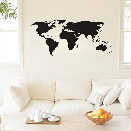 hllhpc 20 Colores Disponibles Mapa del Mundo Pegatinas de Pared de ...