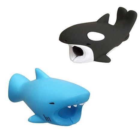Mignons Animaux morsures de c/âble Divers Animaux c/âble Protecteur c/âble Chewers c/âble Accessoires c/âbles de t/él/éphone prot/ège Kalolary Pack de 2 C/âble Protecteur