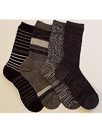 Kirkland Signature Ladies' Trail Socks Extra Fine Merino Wool (Black), 4 Pairs