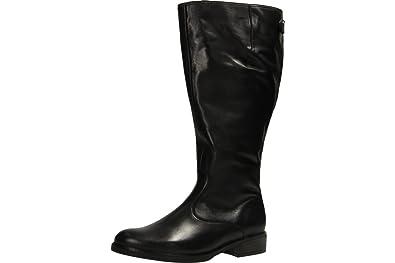 Gabor Damenschuhe 52.799.57 Stiefel Damen Schnürstiefel, Schnürboots, Boots, Stiefel Schwarz (schwarz (Micro)), EU 44