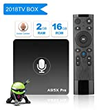 [2G+16G/Voice Remote Control] YAGALA Android 7.1.2 TV Box with 64 Bits Quad Core ARM Cortex-A53 CPU and Supporting 4K (60Hz) Full HD/H.265 /WiFi 2.4GHz
