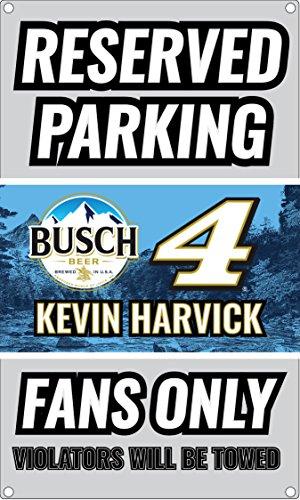 Nascar Sign Parking (NASCAR Reserved Parking for #4 Kevin Harvick Fans Only Sign-NASCAR Metal Parking Sign)