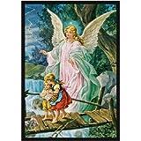 Faith Based Guardian Angel Novelty Rug Rug Size: 5'4'' x 7'8''