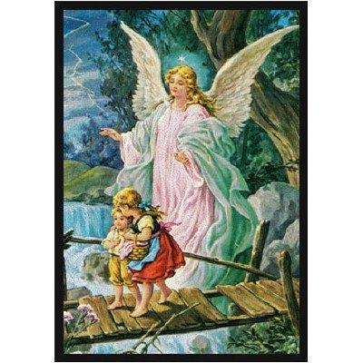 Faith Based Guardian Angel Novelty Rug Rug Size: 5'4'' x 7'8'' by Joy Carpets