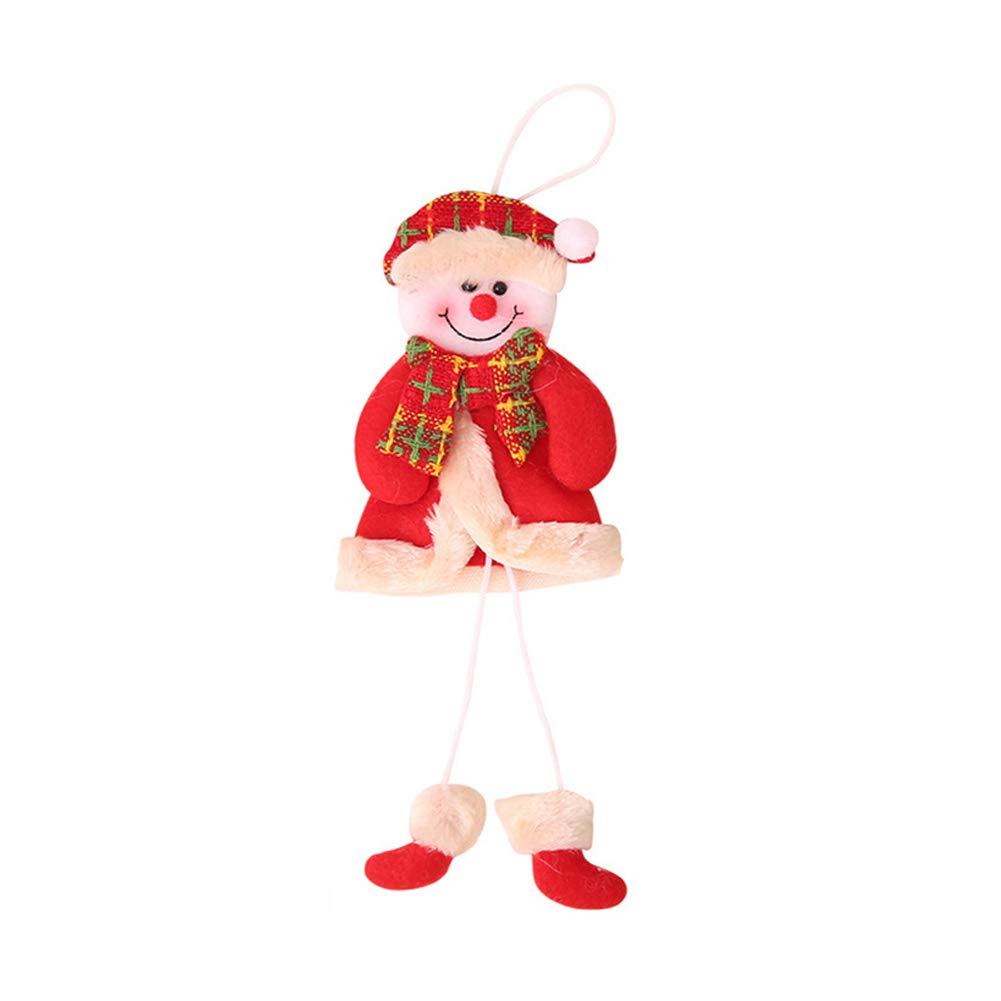 Ouken Decorazioni domestiche per il salone di peluche bambola Babbo Natale appeso ornamenti ciondolo